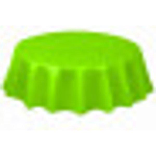 Nappe ronde jetable plastique vert lime