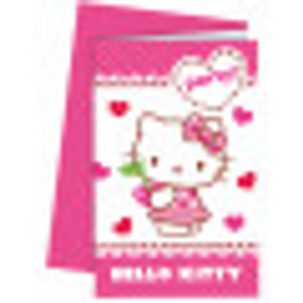 6 Cartes d'invitation avec enveloppes Hello Kitty™