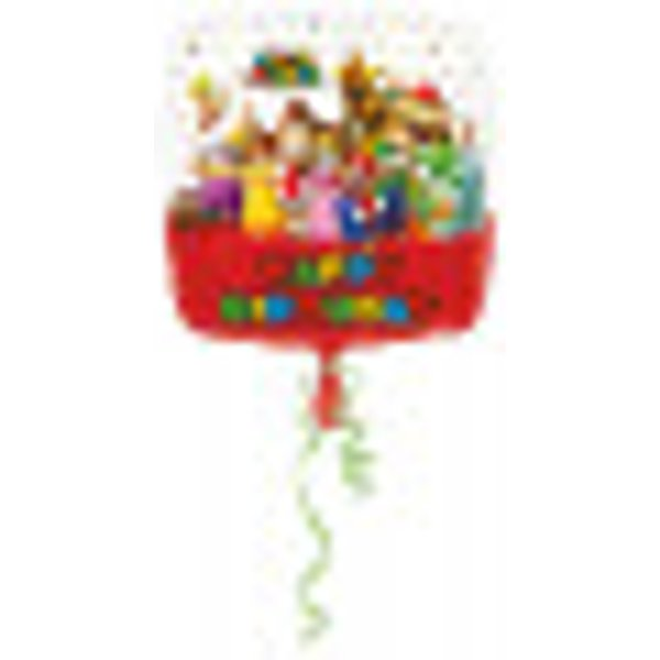 Ballon aluminium Happy Birthday Mario Bros™ 43 cm