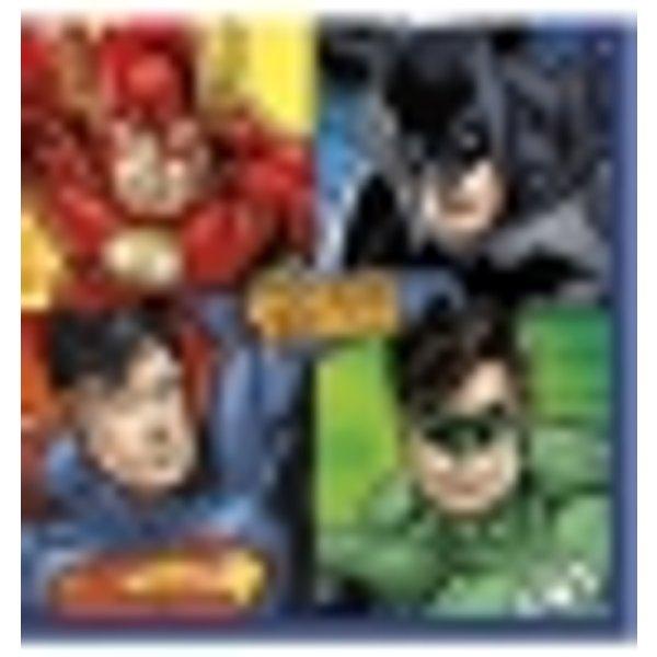 16 Serviettes en papier Justice League ™ 33 x 33 cm