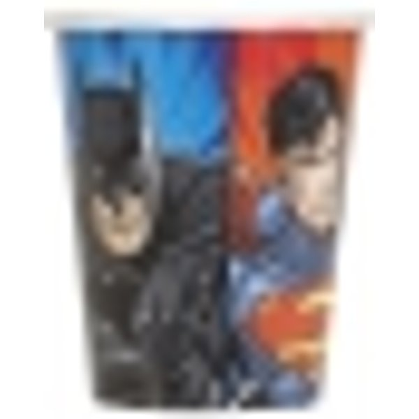 Justice League Coupes [9 oz Party 8 par paquet]