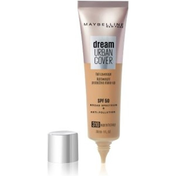 Maybelline Dream Urban Cover SPF50 Foundation 121ml (Various Shades) - 310 Warm Honey
