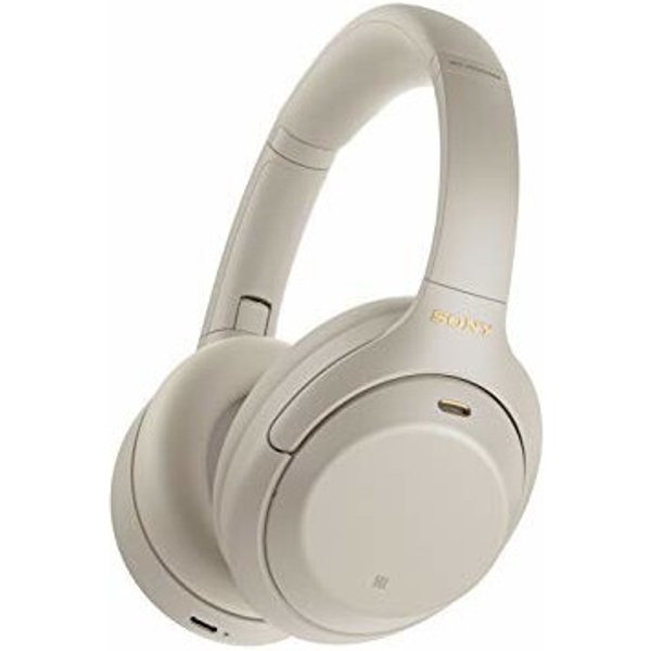 Sony WH-1000XM4 Wireless Noise-Canceling Over-Ear Headphones - Silver