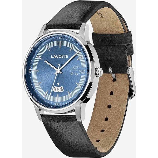Lacoste 2011034 Men's Madrid Black Leather Wristwatch