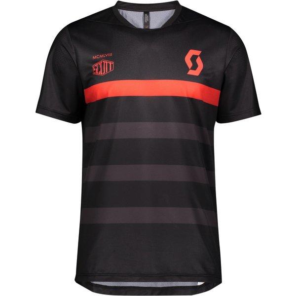 Scott Trail Shirt Flow Pro S/S Black / Fiery Red