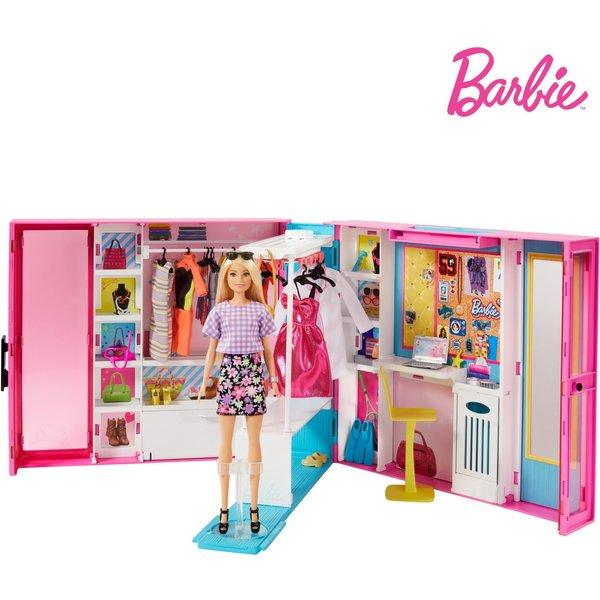 Barbie Traum Kleiderschrank ausklappbar, Puppe