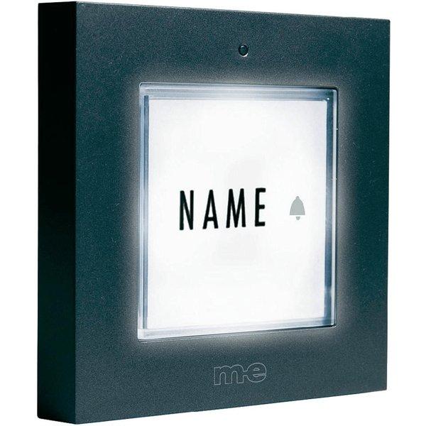 Bouton de sonnette pour 1 foyer argent éclairé m-e GmbH