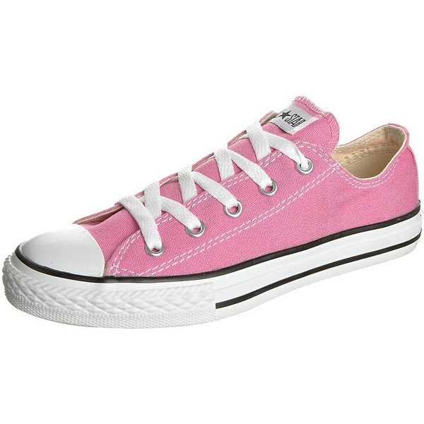 Converse  ALL STAR OX  girls's Children's Shoes (Trainers) in Pink. Sizes available:10 kid,10.5 kid,11.5 kid,12 kid,12.5 kid,13.5 kid,1 kid,2 kid,2.5 kid,10 kid,11 kid,1 kid,2 kid,12.5 kid,1.5 kid,2.5 kid