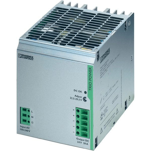 Phoenix Contact 2866381 TRIO-PS/1AC DIN Rail Power Supply 24V DC 2