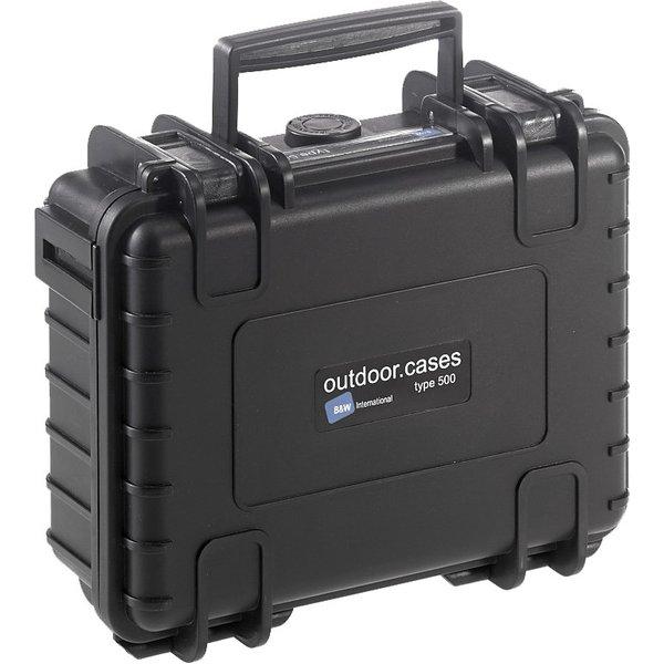 B&W Outdoor Case Typ 500, Würfelschaum, Schwarz