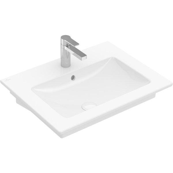 Villeroy & Boch Venticello Lave-mains 412460, 600x500mm, 1 trou pour robinet, avec trop-plein, Coloris: Blanc - 41246001 - VILLEROY UND BOCH AG