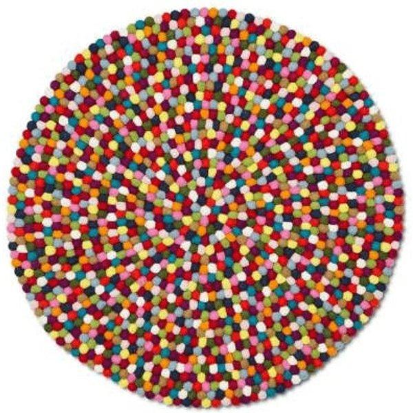 Tapis Pinocchio Ø 90 cm - Hay multicolore en tissu