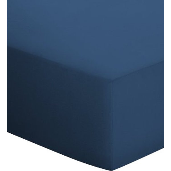 Mako-Jersey-Spannbetttuch Schlafgut blau Größe: 020