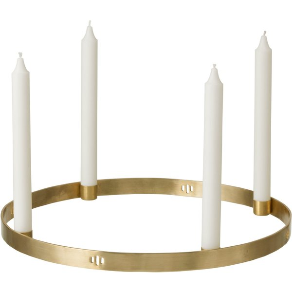 Circle Large Candelabra - To suspend or to lay - Brass by Ferm Living Gold