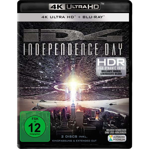 Independence Day - Extended Cut (4K Ultra HD) [Blu-ray]