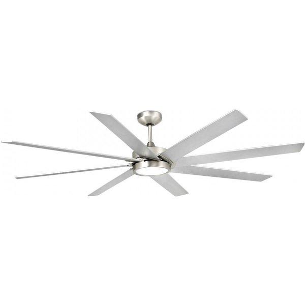 LED ceiling fan Century matt nickel grey