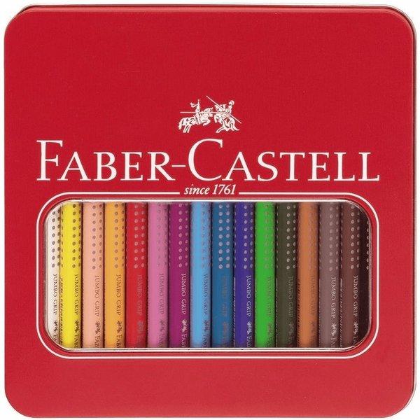 Faber-Castell Buntstifte Jumbo Grip 16er Metalletui