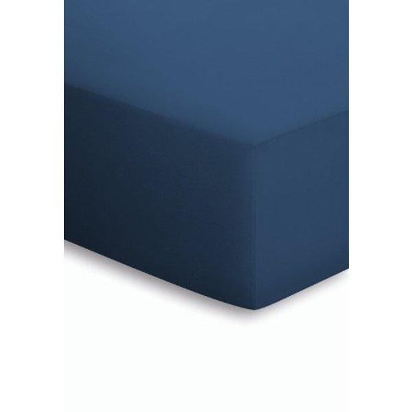 Mako-Jersey-Spannbetttuch Schlafgut blau Größe: 018