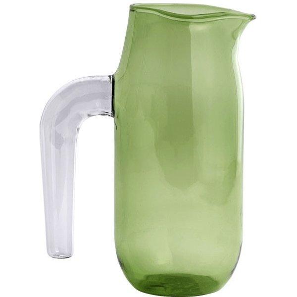Carafe Jug Large / Ø 10 x H 20,5 cm - Hay vert,violet en verre