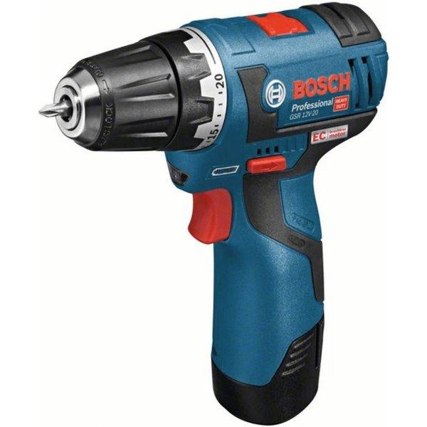 Bosch BORE-/SKRUEMASKINE GSR 12V-20 2X3.0AH LB