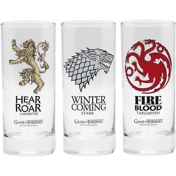 Game Of Thrones Noble Houses Trink-Glas-Set klar