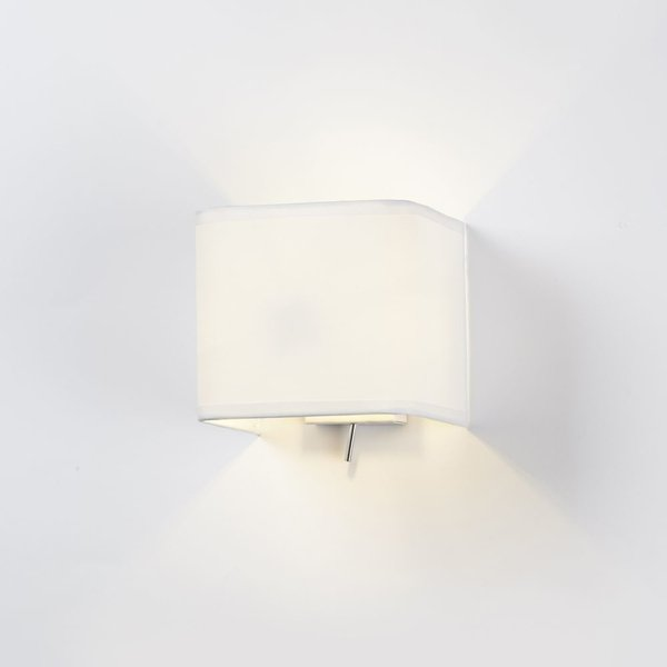 Astro 1166001 Ashino Square White Modern Switched Wall Light