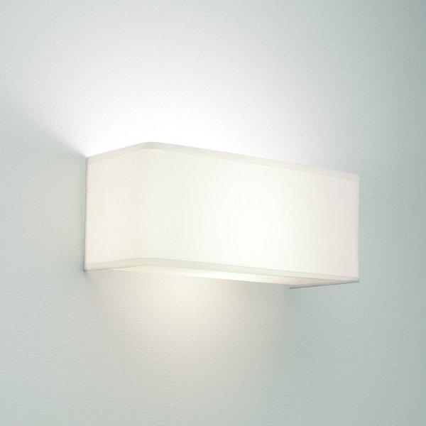 Astro 1166002 Ashino Wide White Fabric Modern Wall Bracket