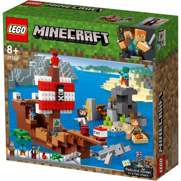 LEGO® Minecraft™ 21152 L'aventure du bateau pirate