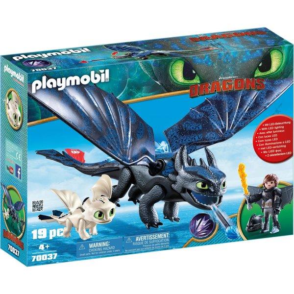 Playmobil Dragons 70037 Krokmou et Harold avec bébé dragon
