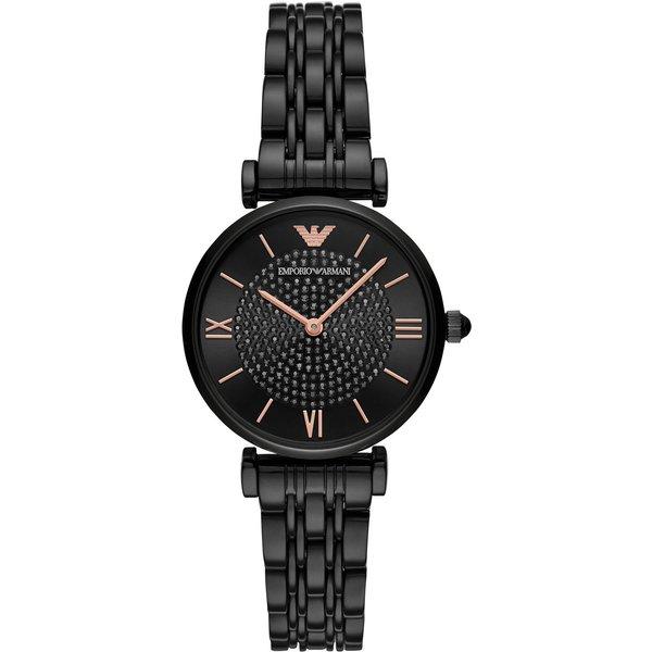 Armani Gianni T-Bar Black Ladies Watch AR11245