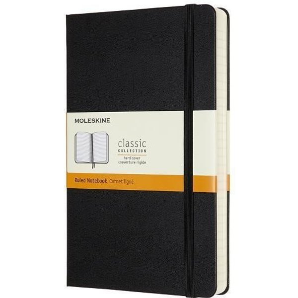 Moleskine Expanded Large Ruled Hardcover Notebook: Black