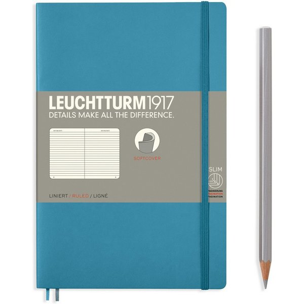 Nordic Blue B6 Ruled Soft Cover Notebook