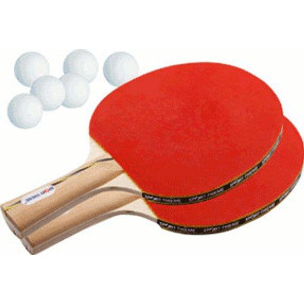 """Sport-Thieme® Tischtennisschläger-Set """"Wien"""", Bälle Weiss"""