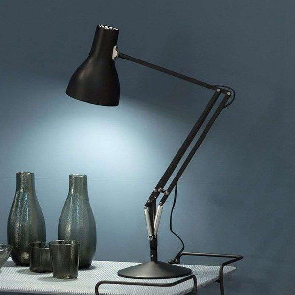 Anglepoise Type 75 table lamp velvety black