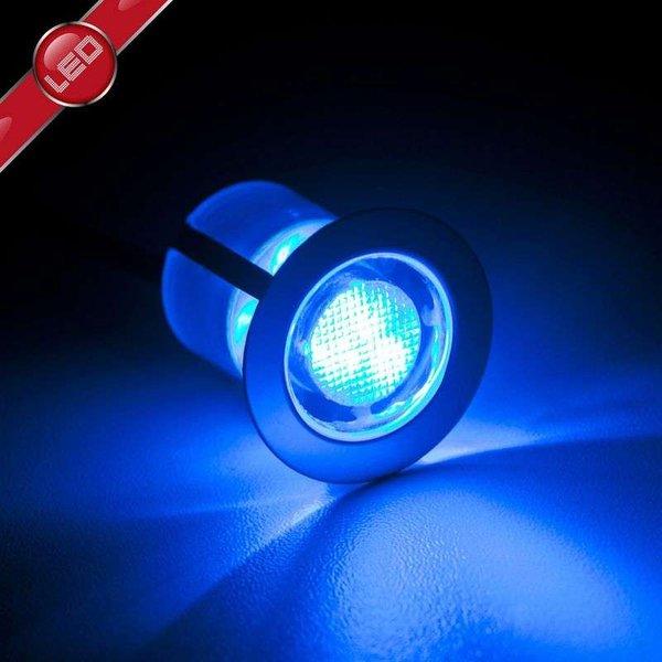BRILLIANT COSA 30 Einbauleuchtenset Ø 3 cm Metall / Glas Edelstahl / blau 10-Flammig