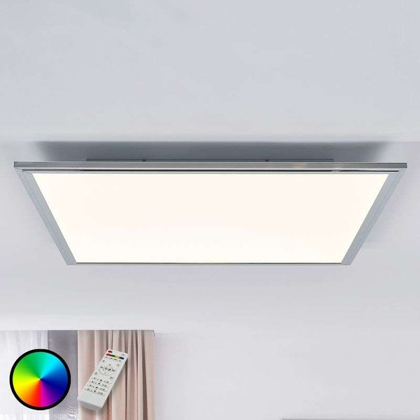 Corinna CCT LED panel, RGB, remote 60 x 60 cm