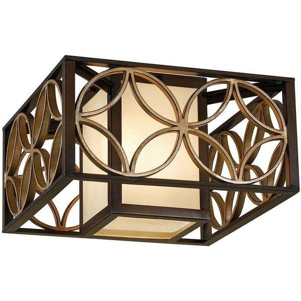 FE/REMY/F Remy 2 Light Flush Heritage Bronze Ceiling Light