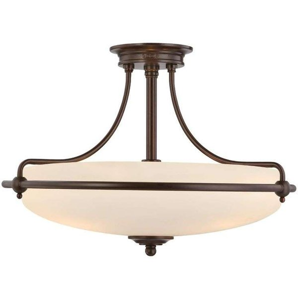 QZ/GRIFFIN/SFMPN 4 Light Med Bronze Semi Flush Ceiling Light
