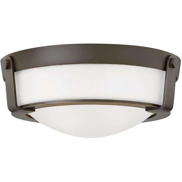HK/HATHAWAY/F/S B Hathaway 2 Light Small Flush Mount Ceiling Light In Olde Bronze