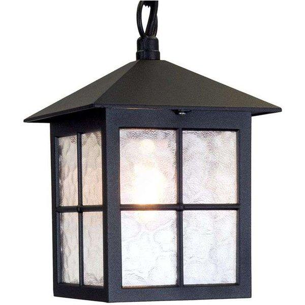 Elstead BL18B Winchester exterior Black hanging porch lantern, IP43