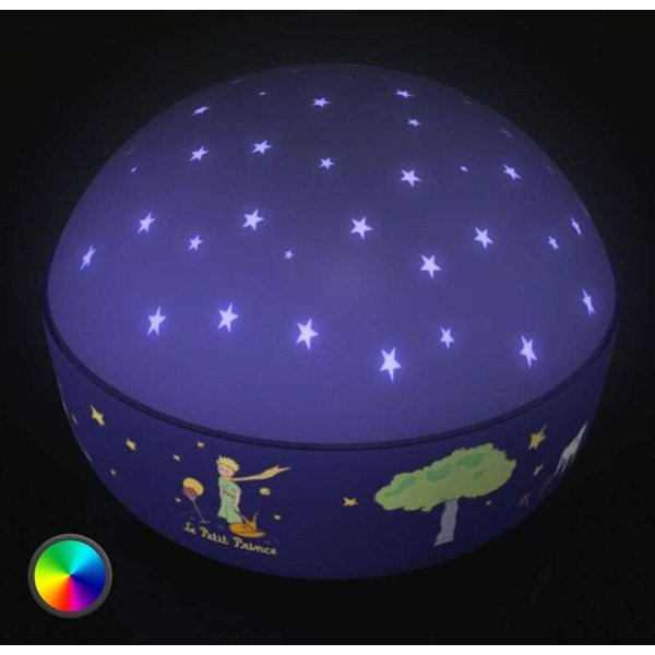 Niermann 80036 LED-Nachtlicht mit Projektor Rund Der kleine Prinz LED Bunt