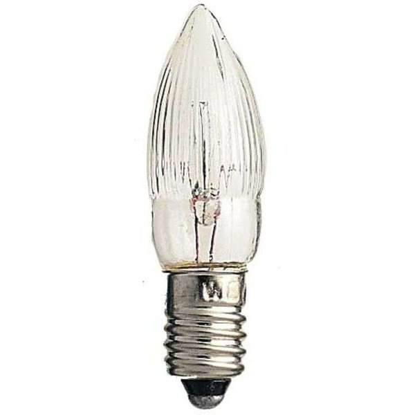 E10 3 W 14 V candle-shaped spare bulbs pack of 3