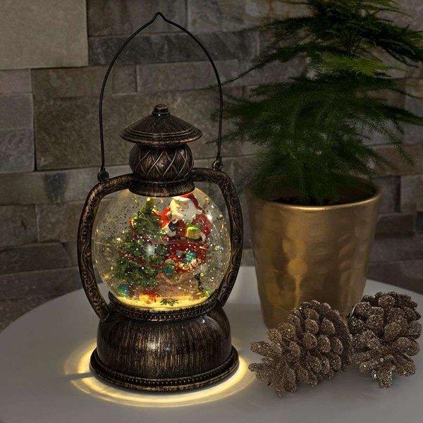 Wassergefüllte LED-Kugellaterne Weihnachtsmann