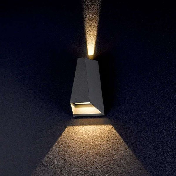 Double shining LED outdoor wall light Jendrik