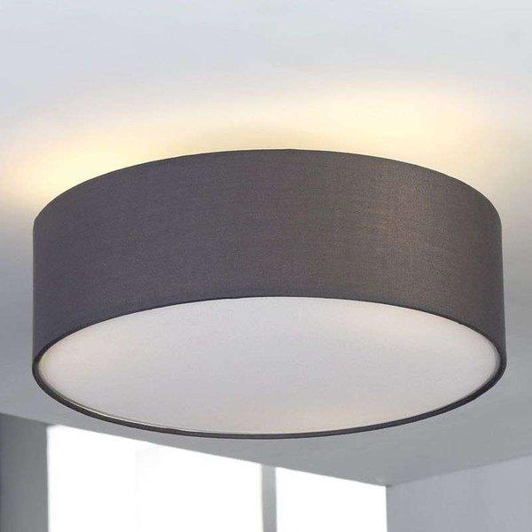 Grey fabric ceiling light Sebatin