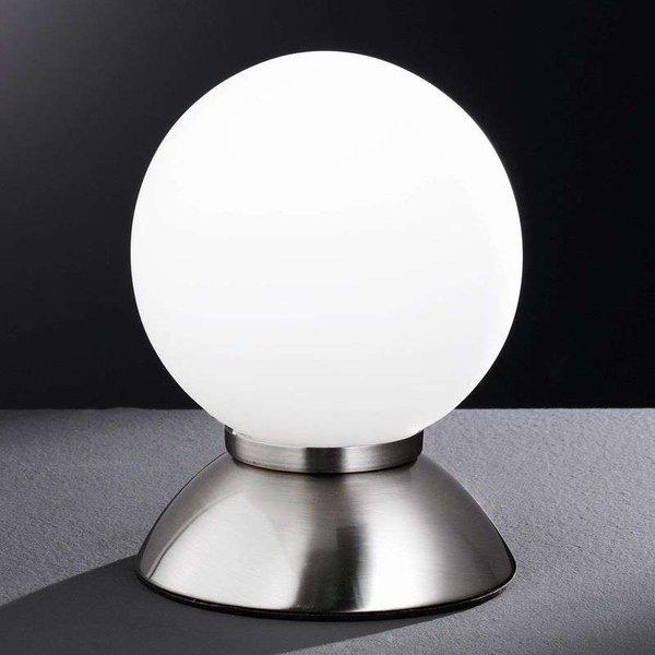 Lampe à poser en boule PLUTO, nickel mat (834201640120)