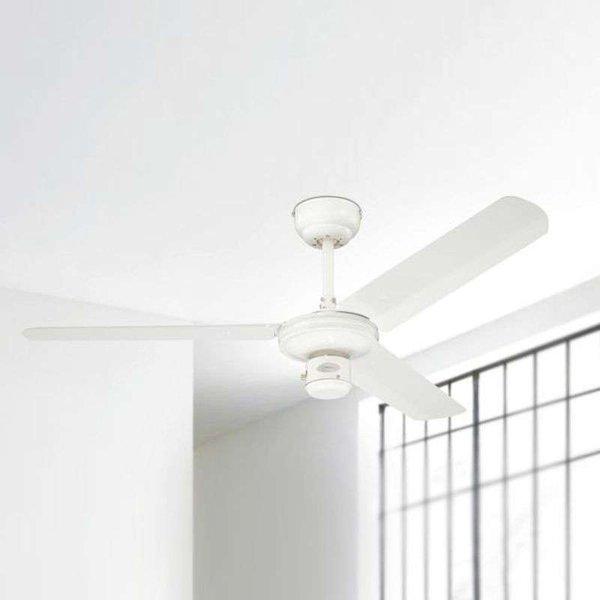 Westinghouse Industrial Deckenventilator (Ø) 122 cm Flügelfarbe: Weiß Gehäusefarbe: Weiß