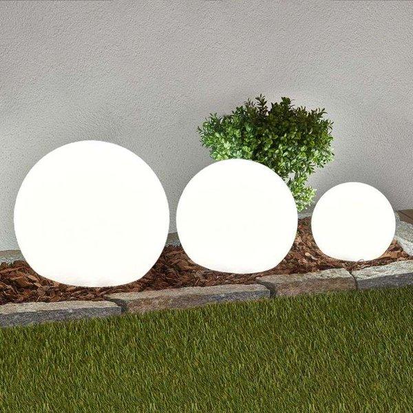 3-piece set LED solar lamps Lago, spheres