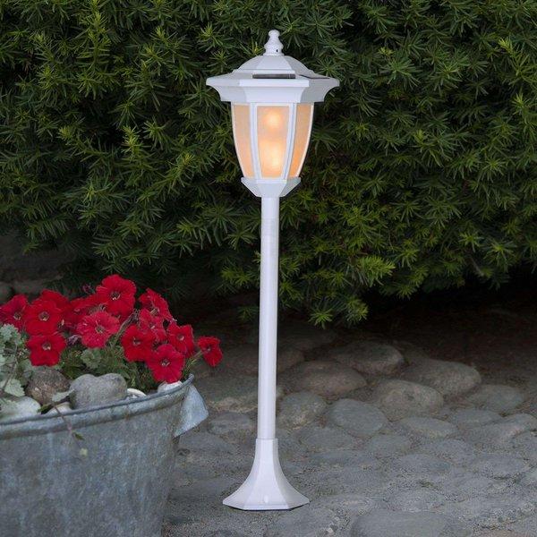 Flame LED solar light, 4 in 1, white (BS48008)