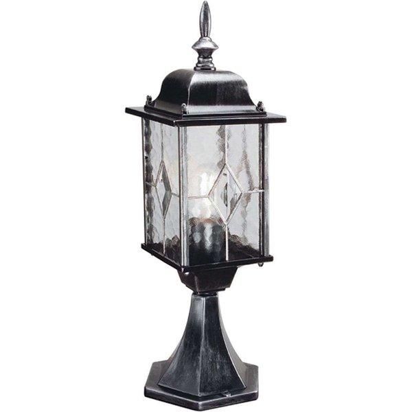 Elstead WX3 Wexford black/silver exterior pedestal lantern, IP43